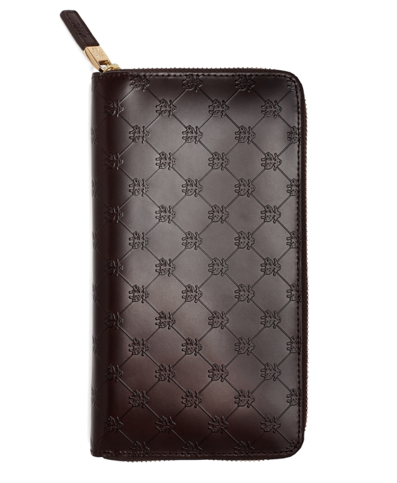 Golden Fleece® Embossed Travel Wallet Brown