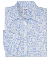 Petite Non-Iron Fitted Floral Dress Shirt with DOW XLA&#0153