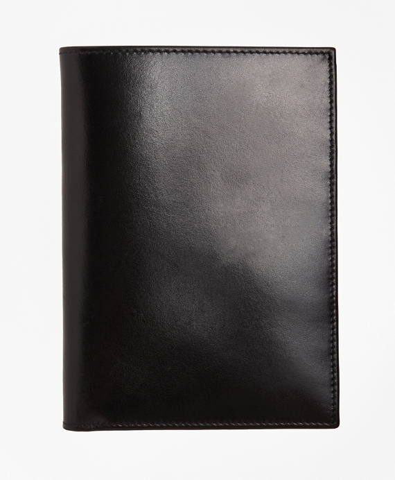French Calfskin Passport Case Black