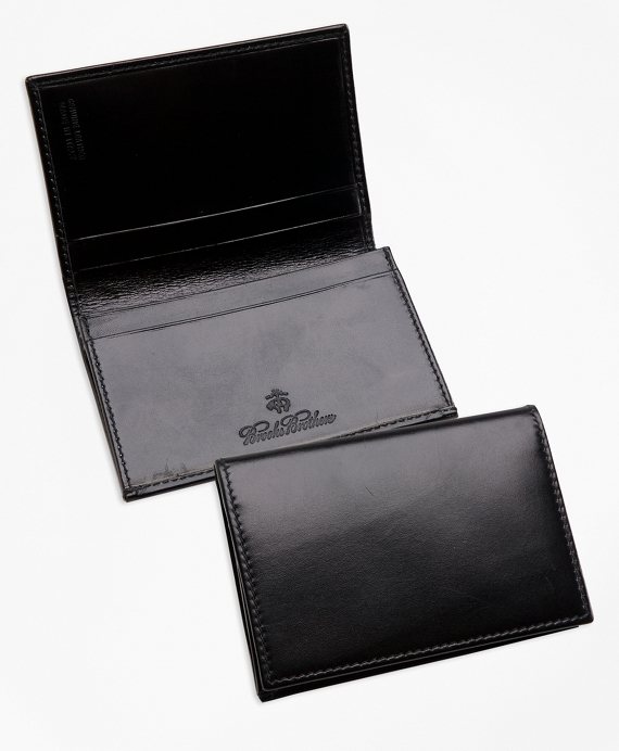 French Calfskin Business Card Case Black