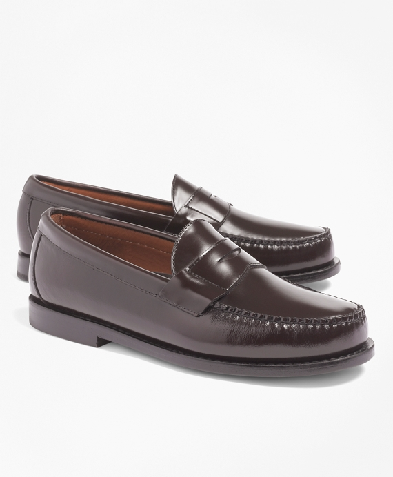 Classic Penny Loafers Burgundy