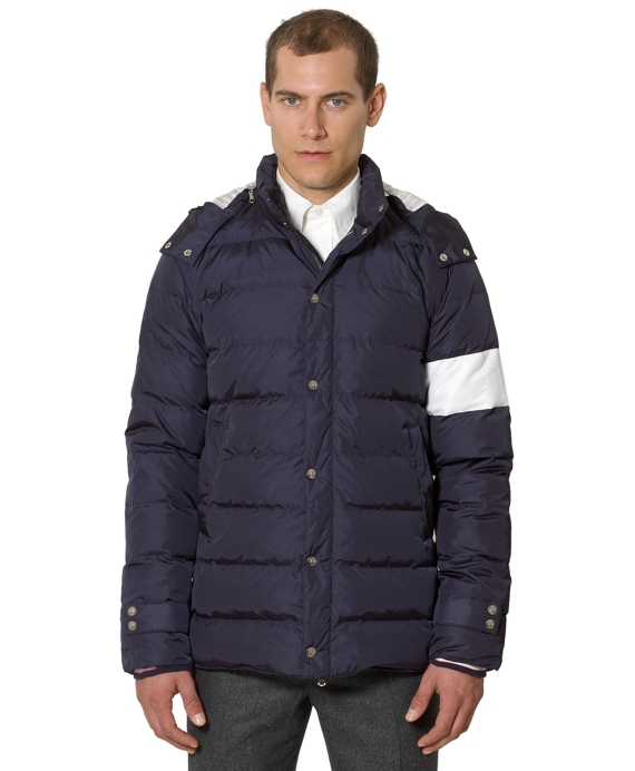 Hooded Down Jacket Navy