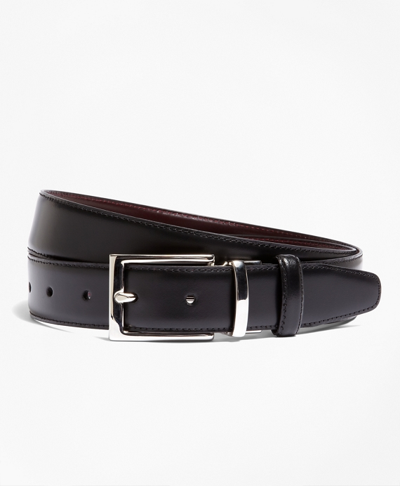 Reversible Leather Belt Black