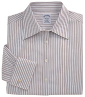 Non-Iron Fitted Bold Textured Stripe French Cuff Dress Shirt