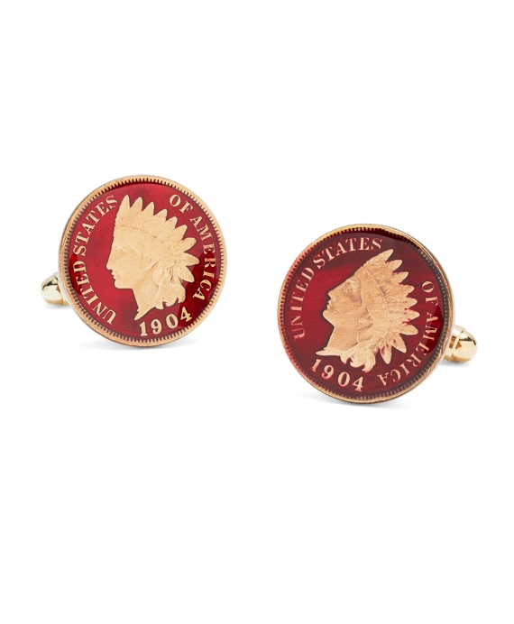 Indian Head Cuff Links As Shown