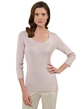 Silk/Cotton Scoopneck Sweater