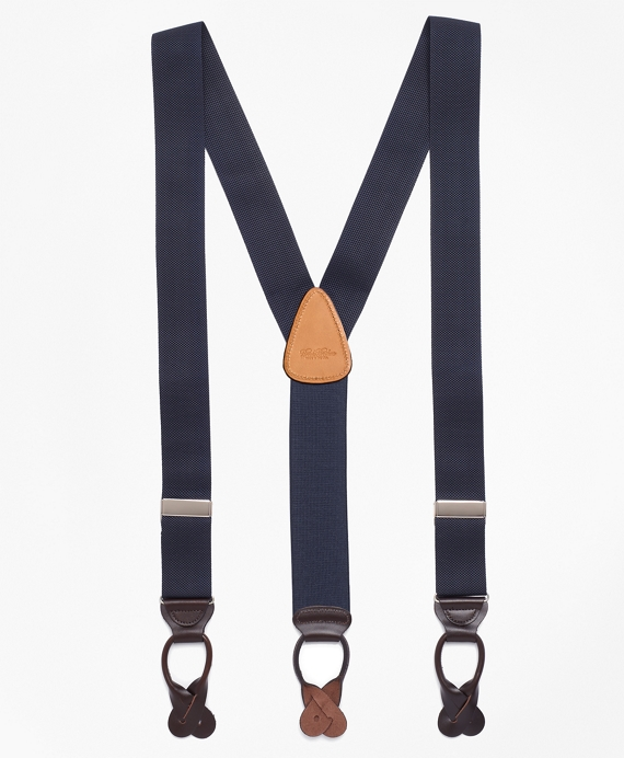 Solid Suspenders Navy
