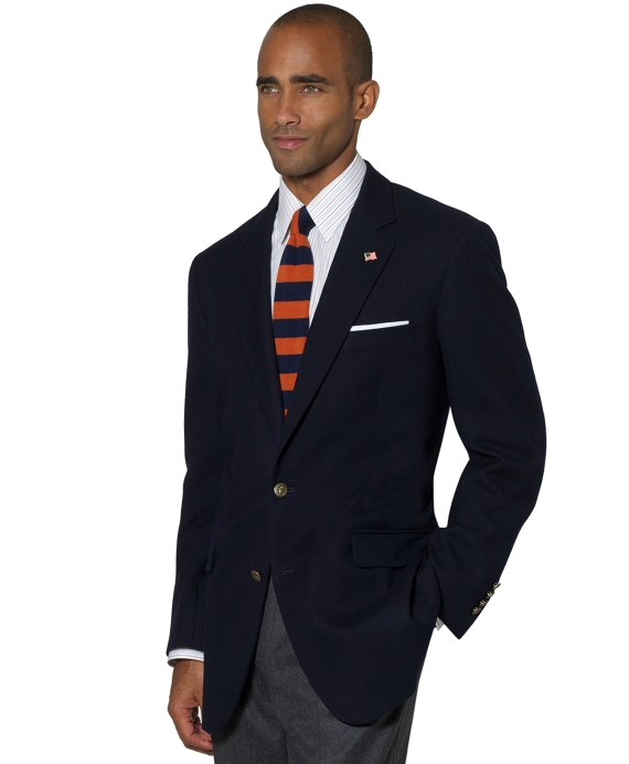 Saxxon Wool Steep Twill Blazer Navy