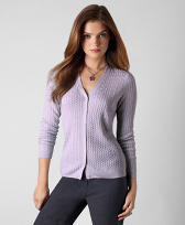 Silk Cashmere Cable Cardigan
