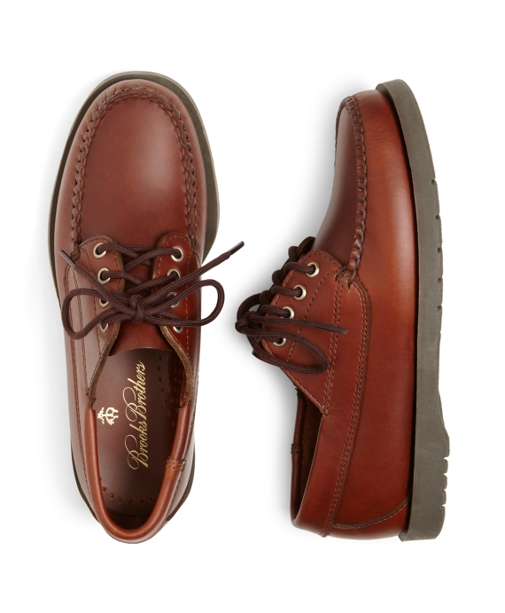 Lace-Up Moccasin Shoes Brown