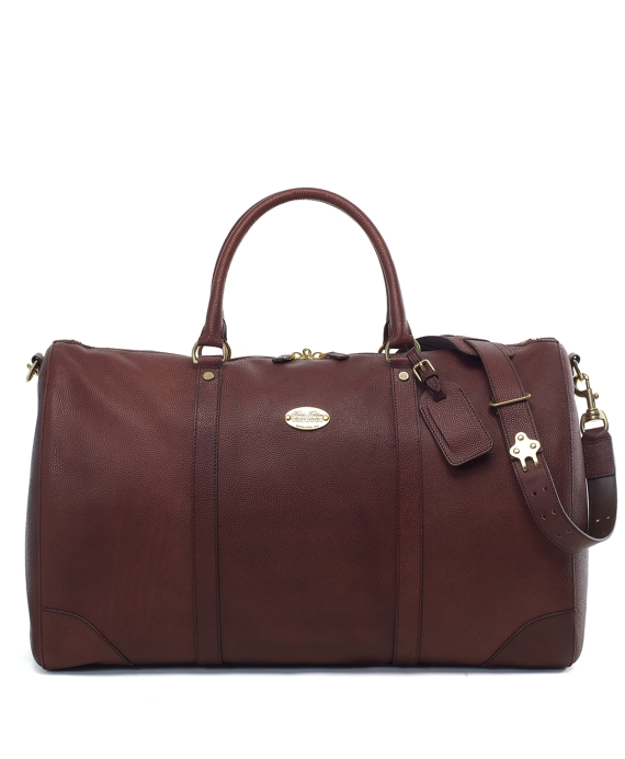 Football Leather Duffel Cognac