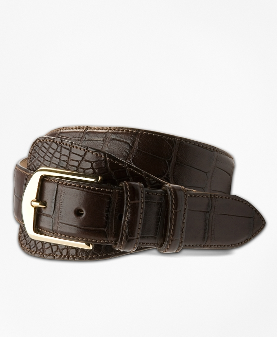 Alligator Tab Belt Brown