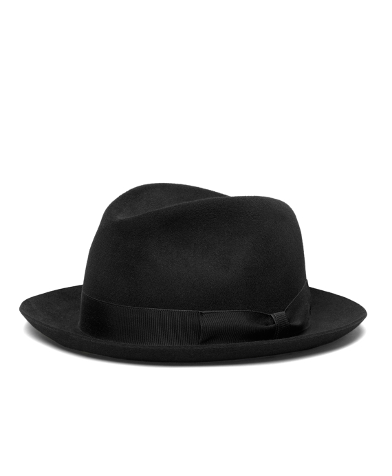 Tonal Ribbon Fedora Black