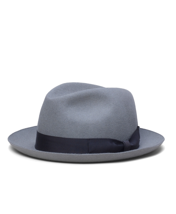 Tonal Ribbon Fedora Light Grey