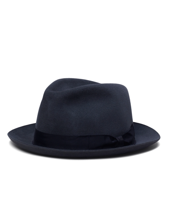 Tonal Ribbon Fedora Navy