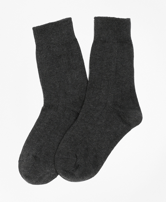 Cotton Lycra® Rib Socks Charcoal