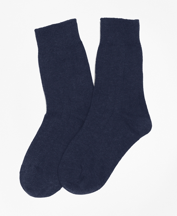Cotton Lycra® Rib Socks Navy
