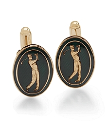 Country Club Vintage Golfer Cuff Links