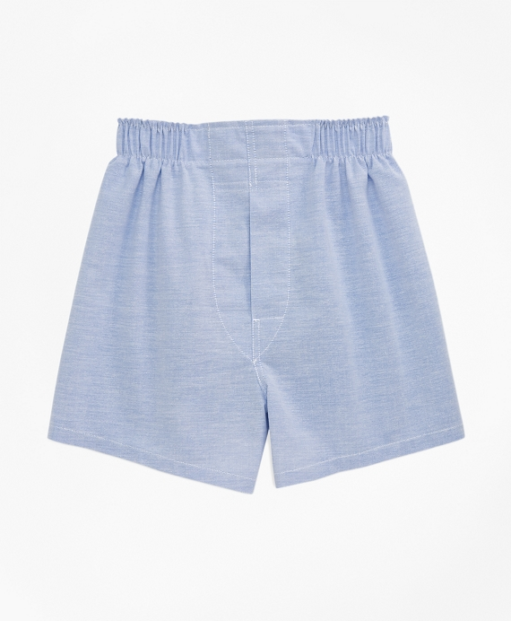 Oxford Full Cut Boxers Blue