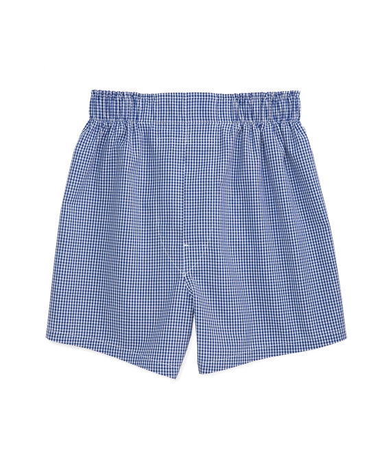 Blue Gingham Full Cut Boxers Blue