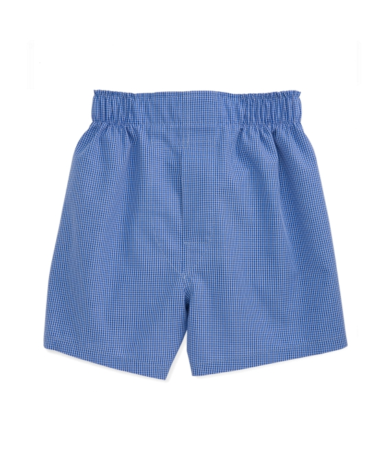 Blue Tattersall Full Cut Boxers Blue