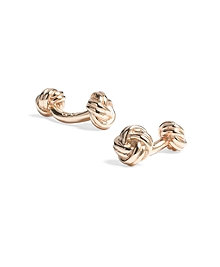 Gold Knot Cuff Links