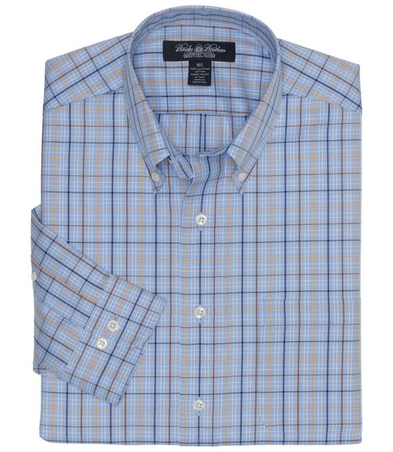 Country Club Glen Plaid with Multi Deco Sport Shirt Blue