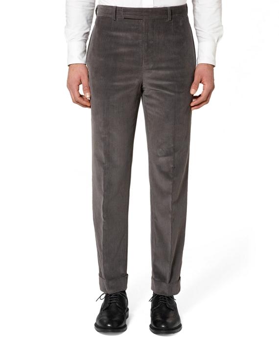 Cotton Cord Belt Loop Trousers Grey