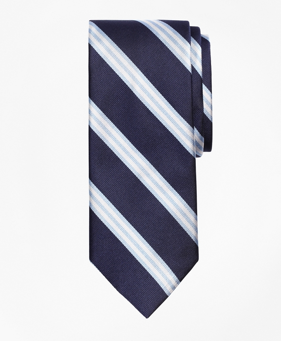 BB#1 Repp Tie Navy-Light Blue