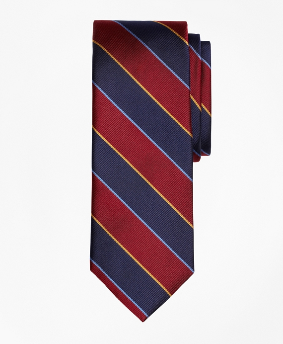 Argyle and Sutherland Repp Tie Burgundy-Navy