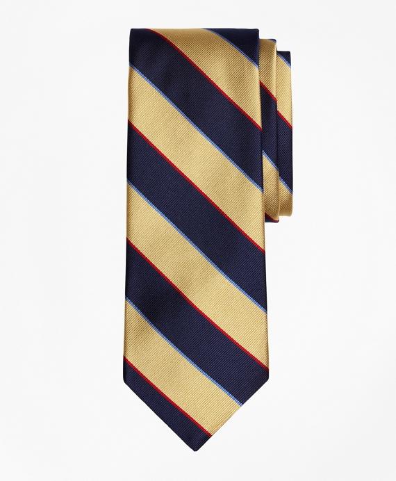 Argyle and Sutherland Repp Tie Yellow-Navy