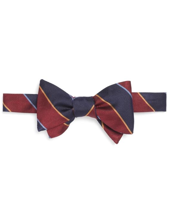 Argyle Sutherland Repp Bow Tie Burgundy-Navy