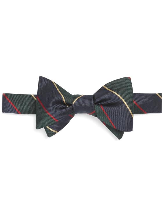 Argyle Sutherland Repp Bow Tie Green-Navy