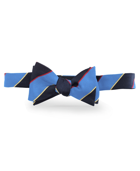 Argyle Sutherland Repp Bow Tie Light Blue-Navy