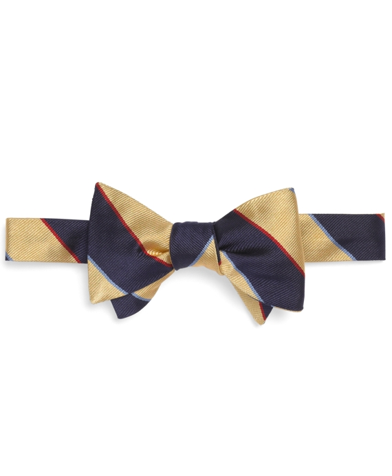 Argyle Sutherland Repp Bow Tie Yellow-Navy