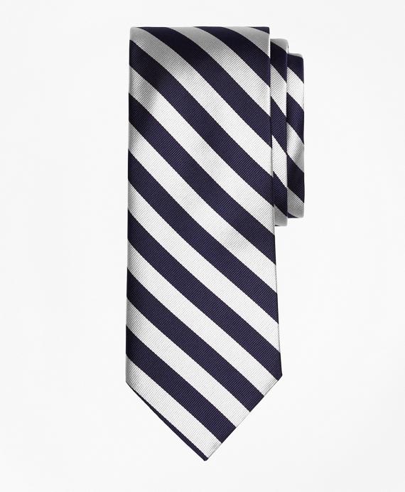 BB#4 Repp Tie Navy-White