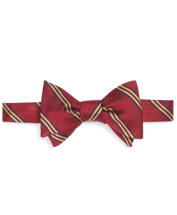 Mini BB#1 Stripe Bow Tie Dark Red