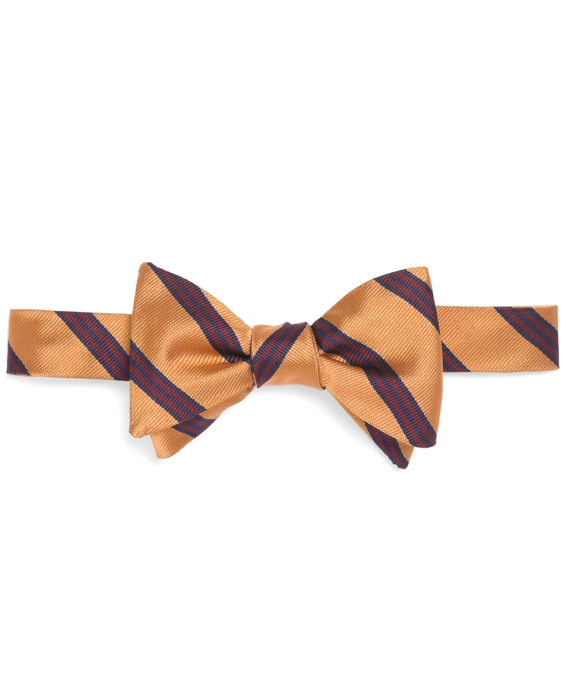 Mini BB#1 Stripe Bow Tie Gold-Burgundy