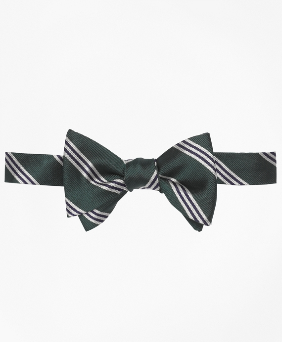 Mini BB#1 Stripe Bow Tie Green-Navy