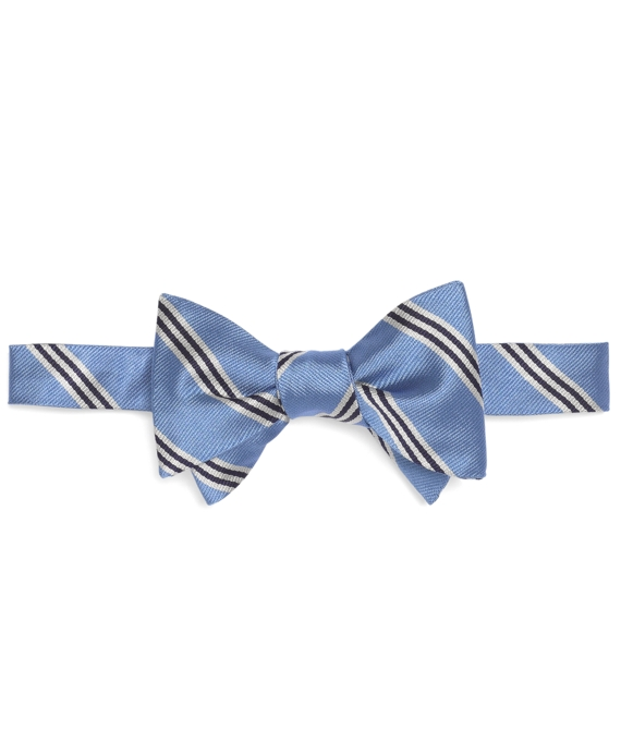 Mini BB#1 Stripe Bow Tie Light Blue