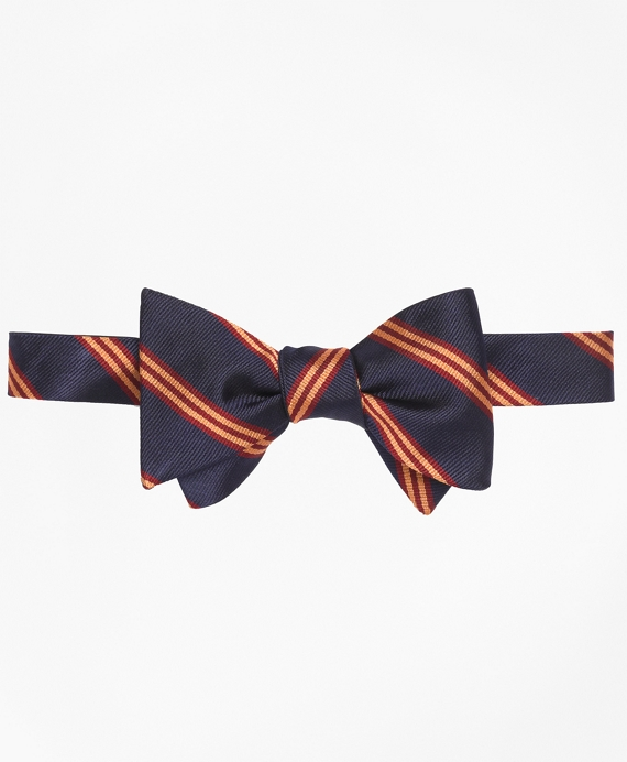 Mini BB#1 Stripe Bow Tie Navy-Gold