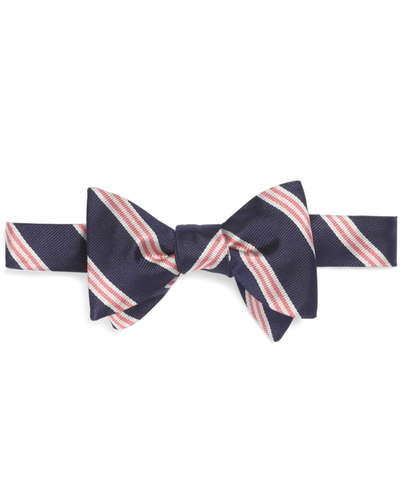 Mini BB#1 Stripe Bow Tie Navy-Pink