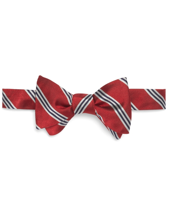 Mini BB#1 Stripe Bow Tie Red