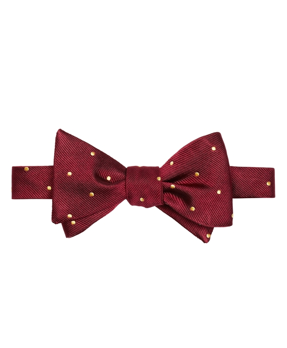 Dot Bow Tie Burgundy-Yellow