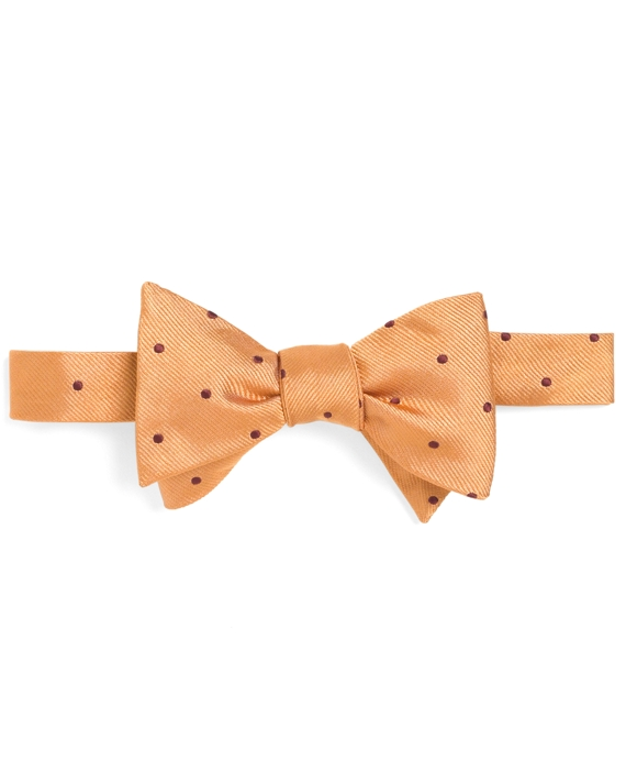 Dot Bow Tie Gold-Burgundy