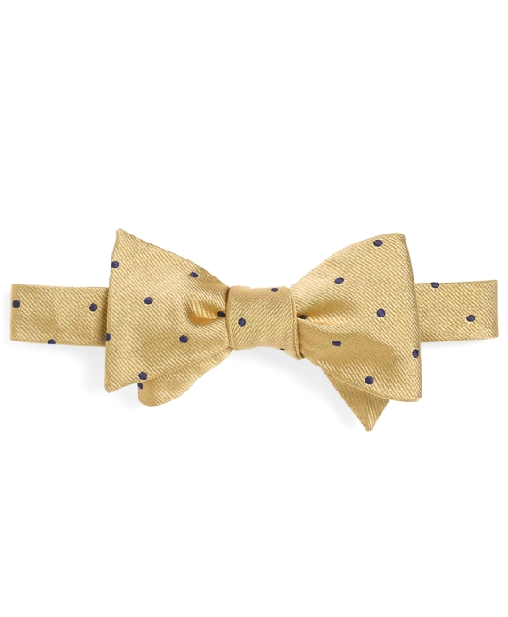 Dot Bow Tie Gold-Navy
