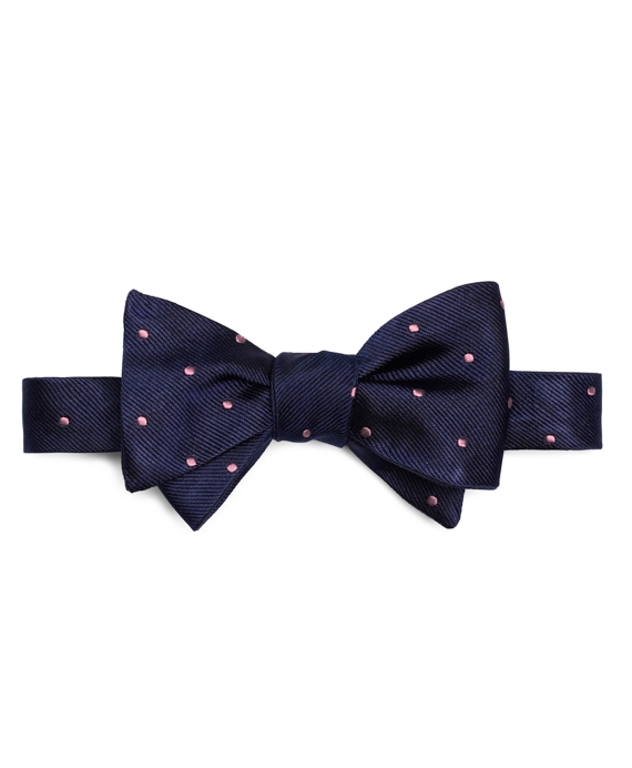 Dot Bow Tie Navy-Pink