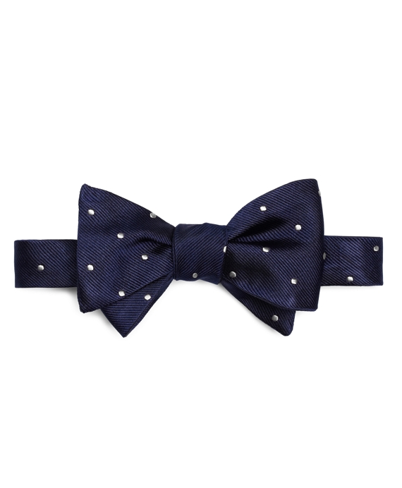 Dot Bow Tie Navy-White