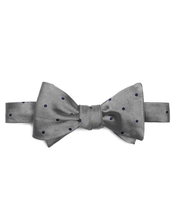 Dot Bow Tie Silver-Navy