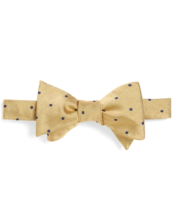 Dot Bow Tie Yellow-Navy